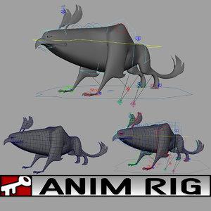 3d model beast rigged