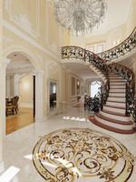 3d interior classical mansion model