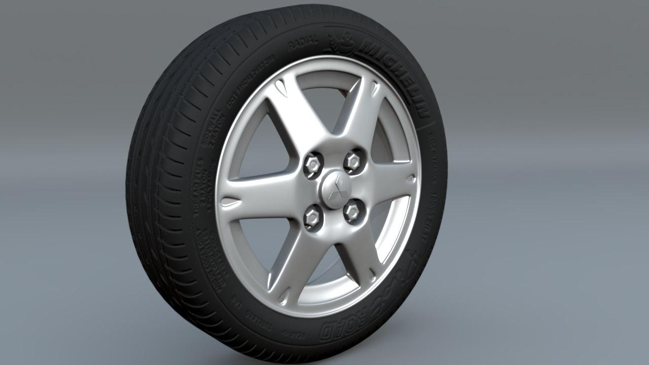 scene file tire rim 3d ma