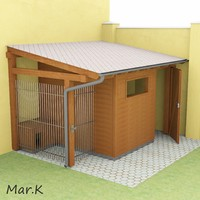 wooden shed + dog kennel