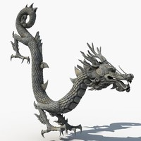 3d model asian dragon sculpture sculpt