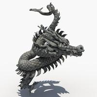 asian dragon sculpture sculpt 3d max