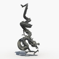 Chinese Dragon Sculpture 04