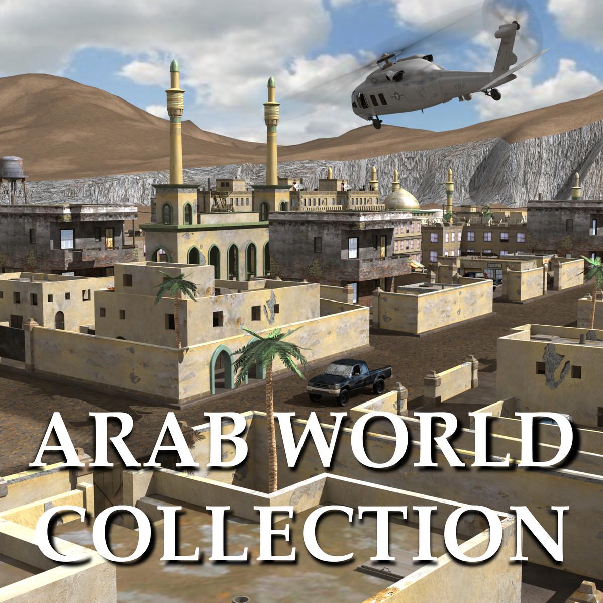 middle arab town city 3d model
