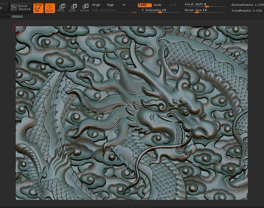 3d model china dragon frolic sea