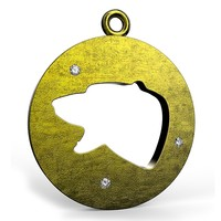 bear flat pendant 3d 3ds