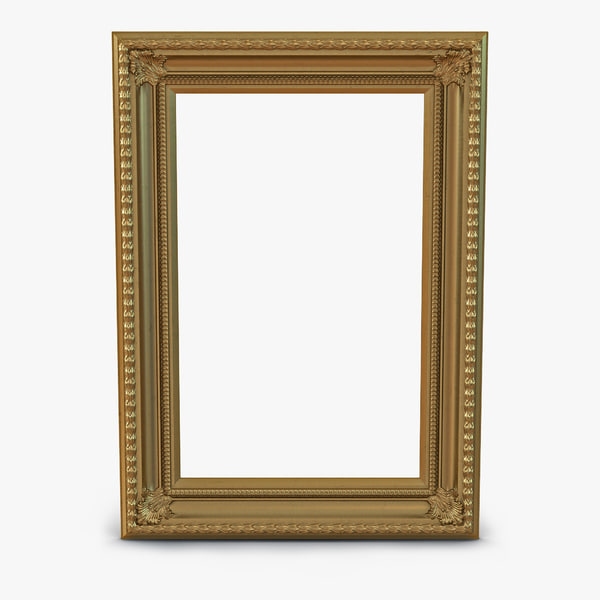 3d baroque picture frame 5