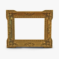 Baroque Picture Frame 2 3D Model