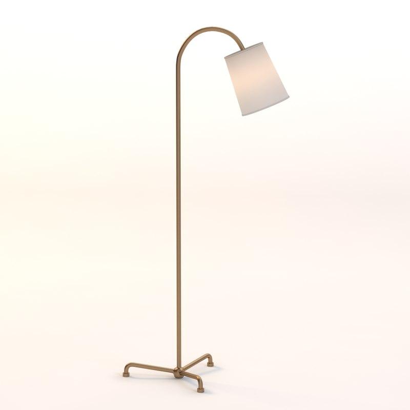 3d model floor lamp mia