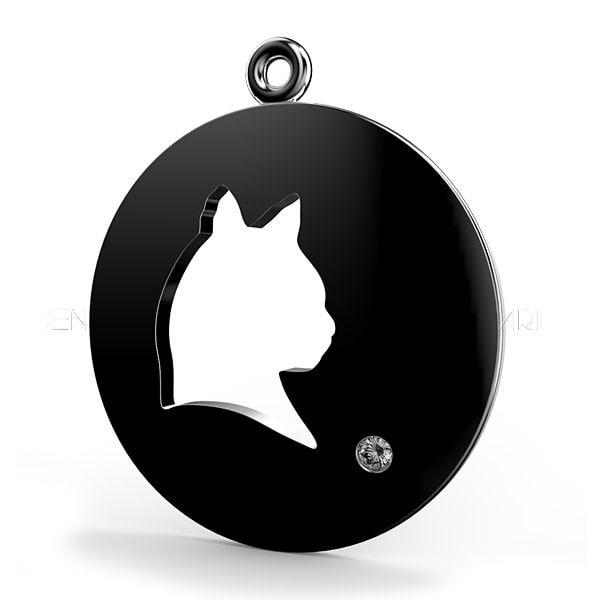 domed cat pendant 3d model