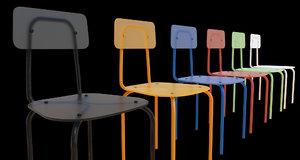 3d plexiglass chair