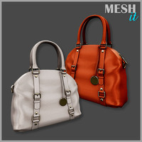 3d model handbag bag leather