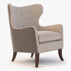 wingback chair simon 3d max