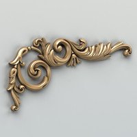carved corner decor 3d model