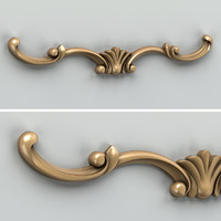 3d carved horizontal decor model