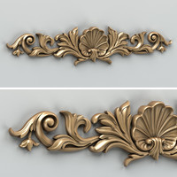 Carved decor horizontal 016