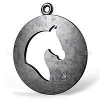 3dsmax domed horse pendant