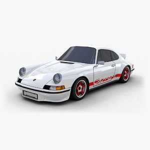 3d model porsche 911 carrera rs
