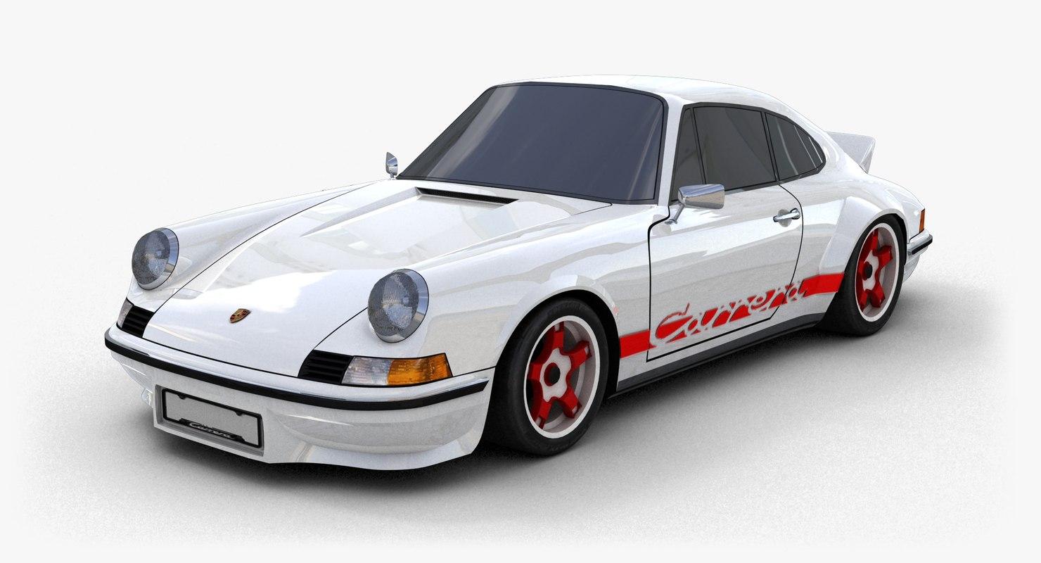 3d model porsche 911 carrera rs