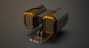 lxo sci-fi rocket turret