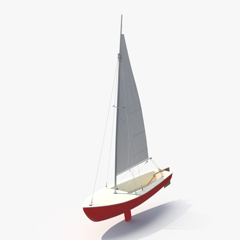 c4d sailboat boat sail