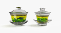 Glass Gaiwan Pair