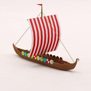 cartoon viking ship 3ds