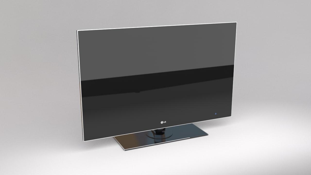 3d model lg television set