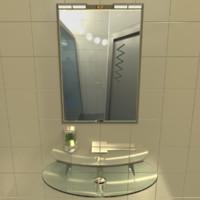 3d bathroom hi-tech sink model