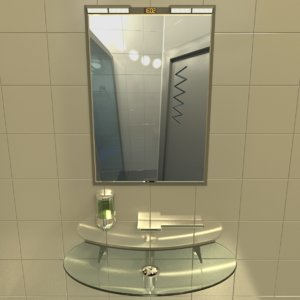 3d bathroom hi-tech sink model