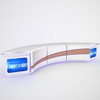 3d model tv studio news desk