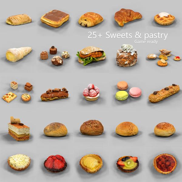 coffeecakes pralines cookies 3d model