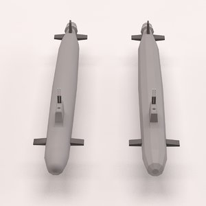 3d max cartoon submarine toon