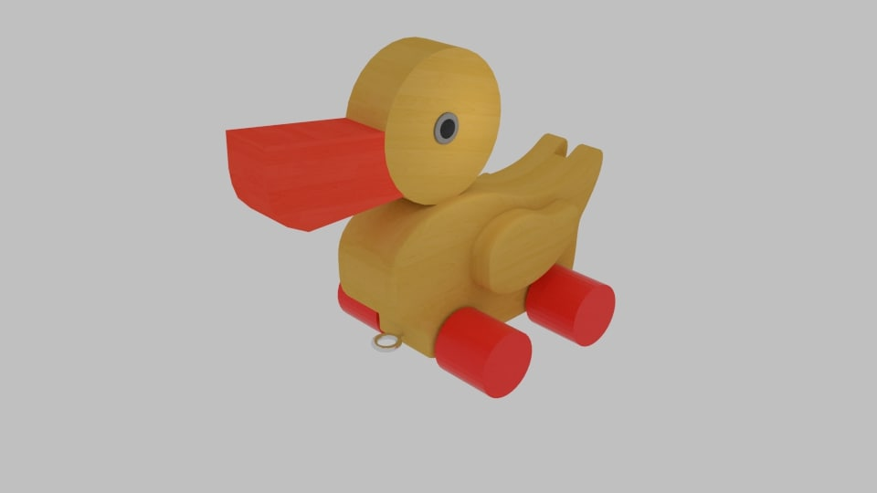 duck toy 3d 3ds