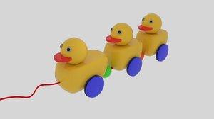 3d duckling toy model
