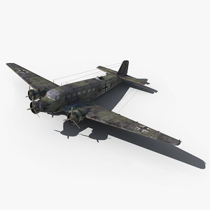 3d model ju-52 world war