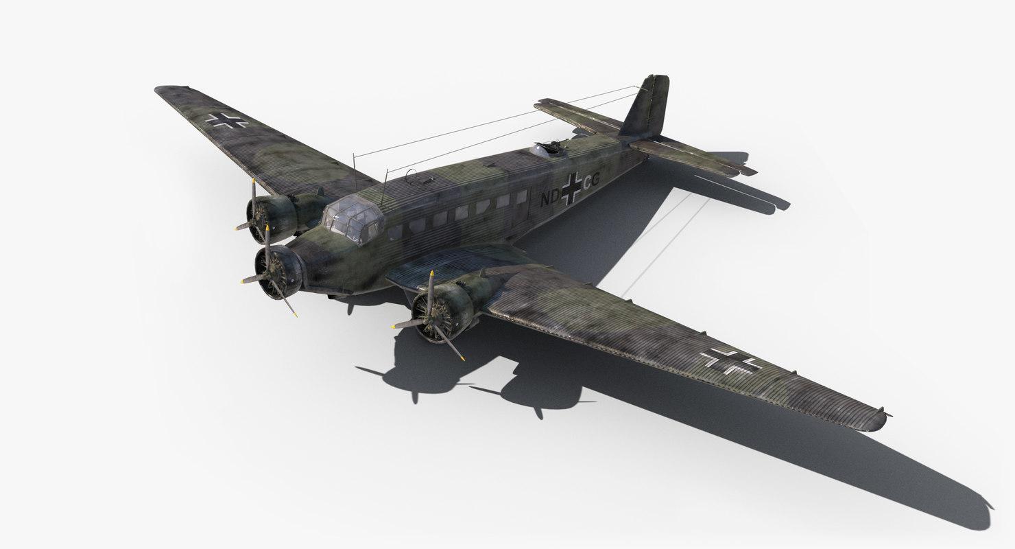 3d model ju-52 world war