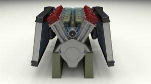 3d t-34 engine transmission t
