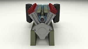 t-34 engine transmission t 3d model