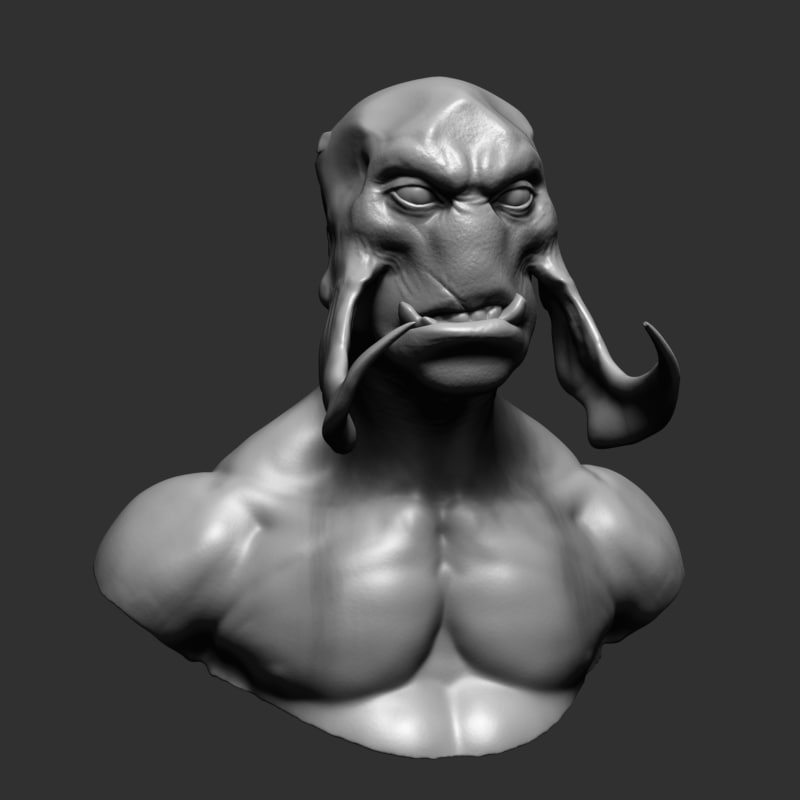 3d model creature ztl zbrush
