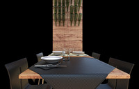 3d model restaurant table design chairs