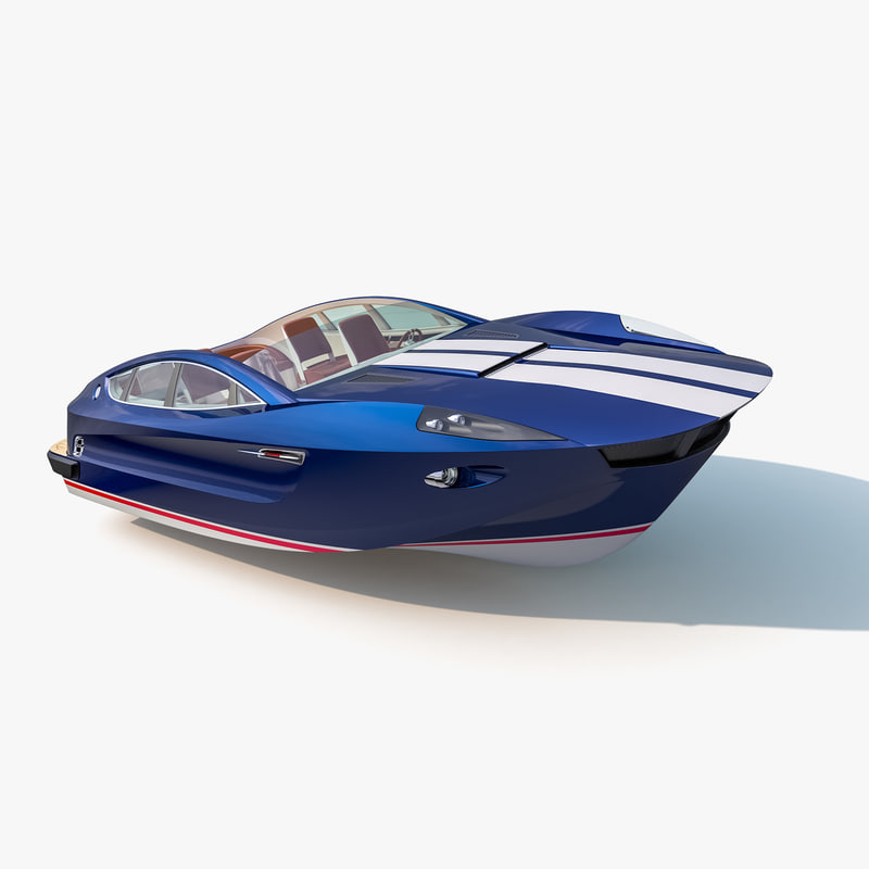 designed motorboat gt-tender 3d max