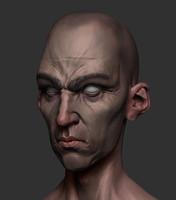3d model stylized head