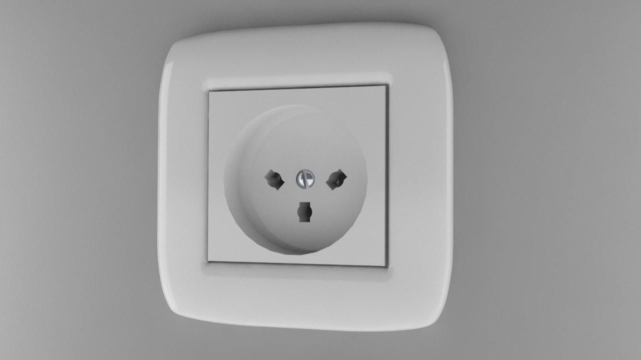 3d power socket type h model