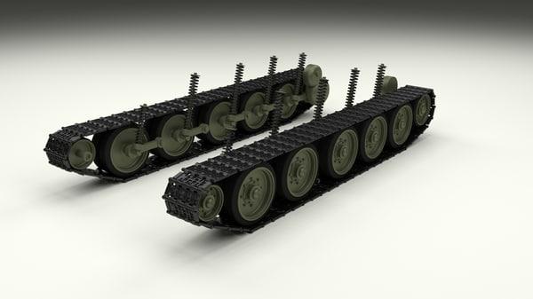 3d t-34 suspension t model