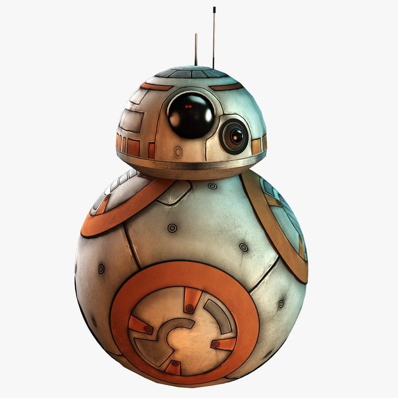 bb8 new droid 3d max
