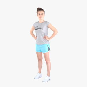 3ds max casual woman