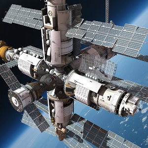 mir space station 3d model