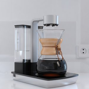 chemex ottomatic coffee maker 3d max