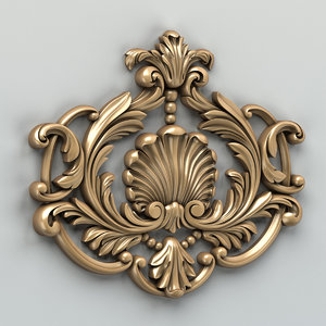 3d carved central decor model